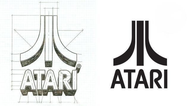 El logotipo de Atari fué diseñado por George Opperman, y apenas ha variado a lo largo de su historia.