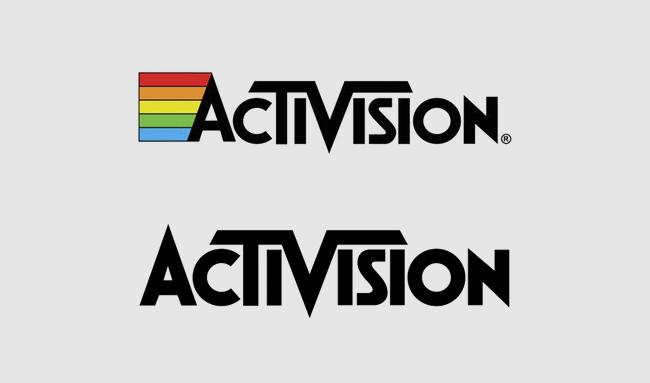 El logotipo de Activision, al igual que el de Atari, apenas ha sufrido cambios.