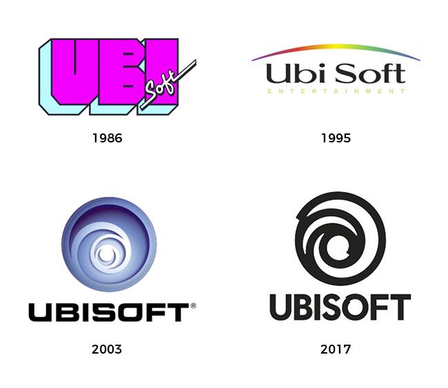 Evolución del logotipo de Ubisoft.