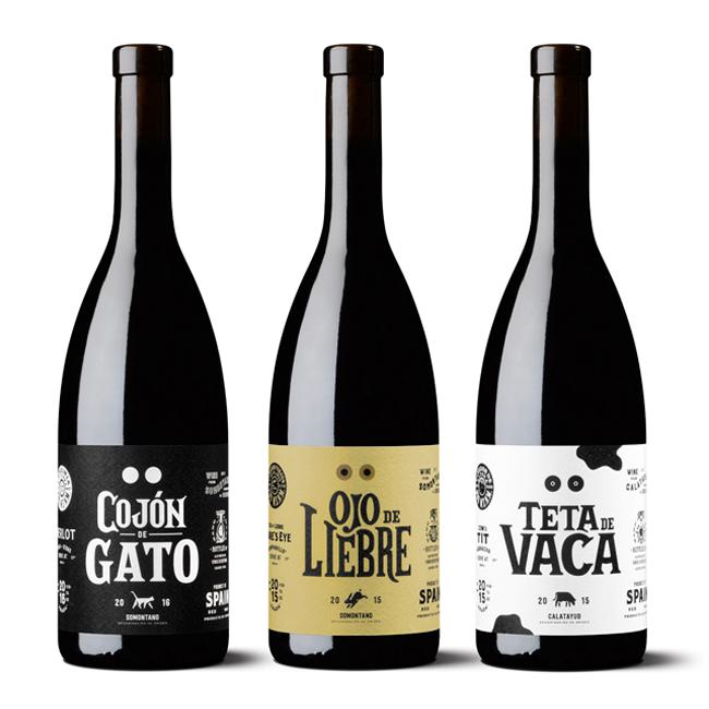 Vinos Divertidos elabora vinos españoles con una filosofía divertida y esto lo refleja en el diseño de sus etiquetas de vino.