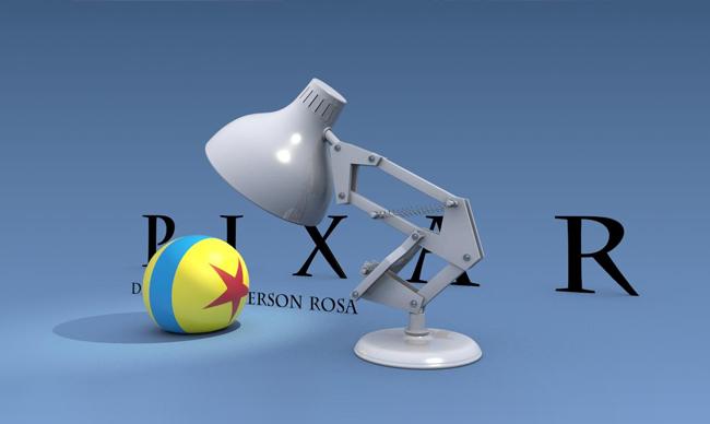 Pixar utilizar a uno de sus primeros personajes, Luxo Jr, como protagonista del diseño de su logotipo.