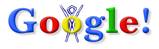 Este fue el primer doodle que Google mostró en su web con motivo del Burning Man Festival.