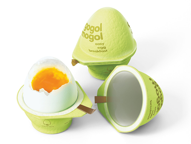 Gogol Mogol, el envase inteligente que cuece huevos diseñado por la agencia rusa Kian.
