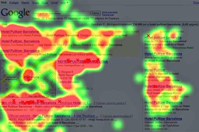 Los mapas de calor muestran dónde se fija la vista de los usuarios con más frecuencia y nos ayudan a generar un diseño web óptimo.