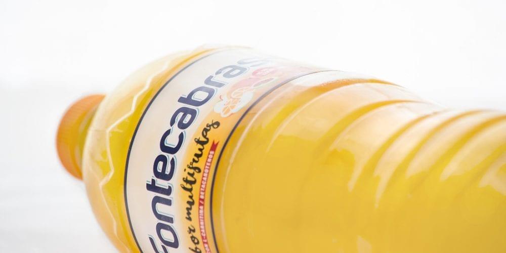 Diseño de etiqueta de Fontecabras Multifrutas