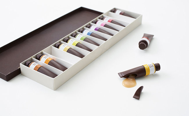 Packaging de chocolate basado en Pantone