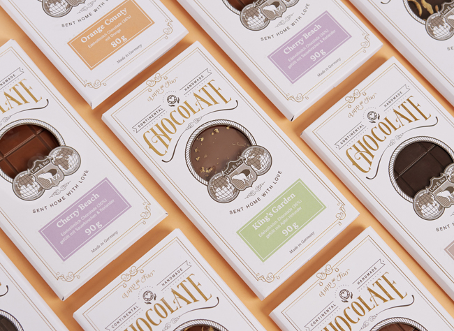 Packaging de chocolate de Lapp & Fao Chocolate