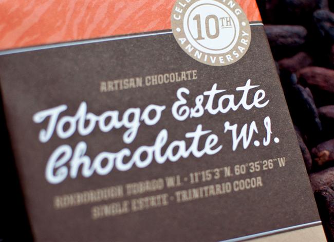 Packaging de chocolate de Tobago