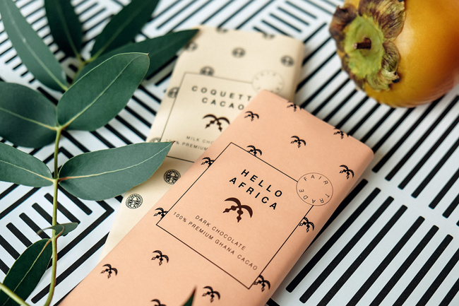 Packaging de chocolate de Hello Africa