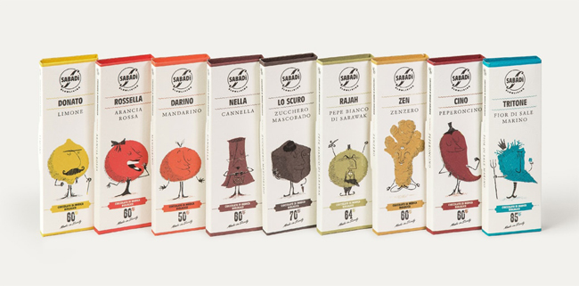 Packaging de chocolate de Sabadi