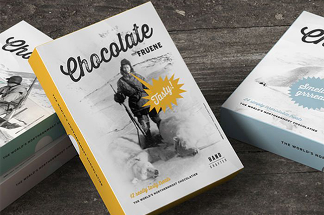 Packaging de chocolate de Fruene