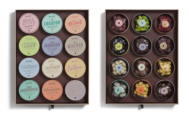 Packaging de chocolate de Chocolates with Attitude