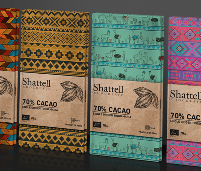 Packaging de chocolate de Shattell