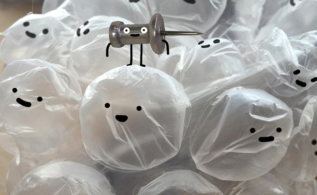 Burbujas animadas de Sean Charmatz
