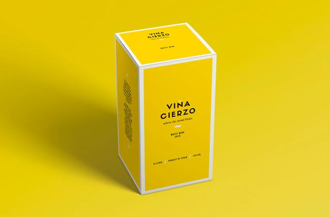 Diseño de packaging de Viña Cierzo