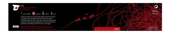Diseño de etiqueta de vino Aio