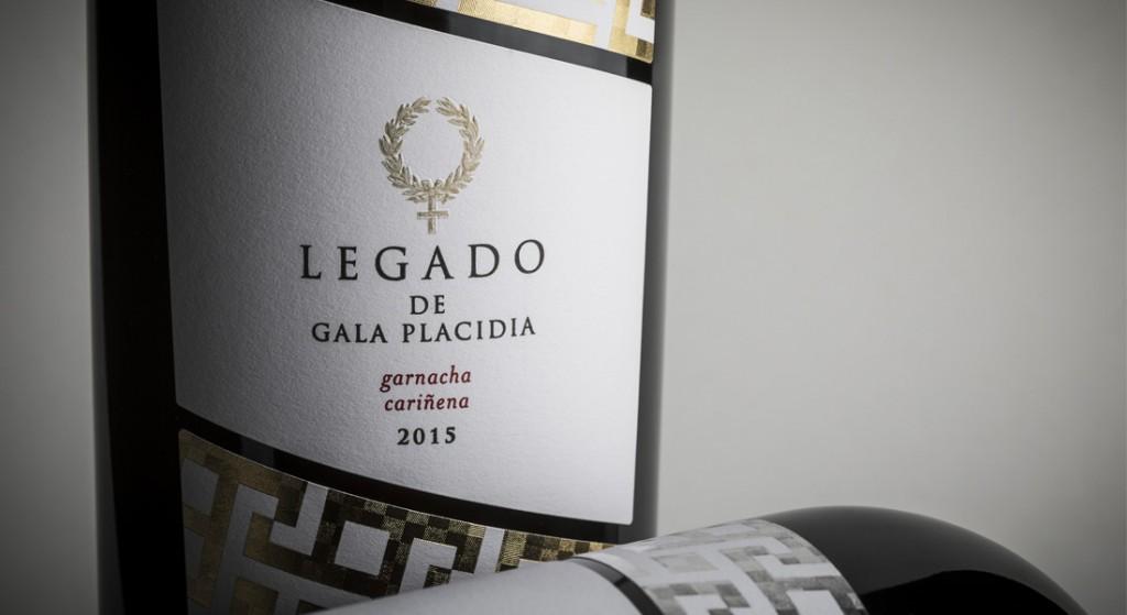 Diseño de etiqueta de vino Gala Placida